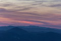 Dusk and mountains Royalty Free Stock Photo