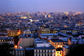 Dusk over Paris - panoramics Stock Photos