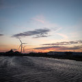 Dusk at the Port of Tilbury, Essex, UK Royalty Free Stock Photo