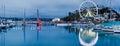 Dusk at torquay devon england harbour uk europe Royalty Free Stock Photos