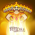 Dussehra celebration with Burning Ravana.