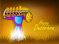 Dussehra festival background. Stock Photography