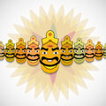 Dussehra for ravan indian festival with his ten heads ill illustration Stock Image