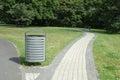 Title: Dust bin in park