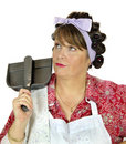 Dust Pan Housewife Royalty Free Stock Image