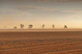 Dust Storm Australian Farm Royalty Free Stock Photo