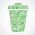 Dustbin is design with eco nature icon Stock Photo