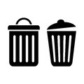Dustbin icon vector isolated on white Royalty Free Stock Image