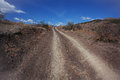 Dusty dirt road Royalty Free Stock Images