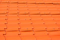 Dusty orange metal sheet roof background texture Royalty Free Stock Photos