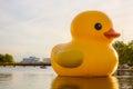 Dutch Artist Florentijn Hofman`s Rubber Duck Sculpture in Norfolk, VA