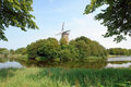 Dutch bastion windmill Stock Photography