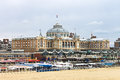 Dutch beach resort with famous Kurhaus hotel . Stock Photo