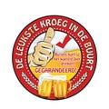 Dutch beer advertising sticker: leukste kroeg in de buurt Royalty Free Stock Photo