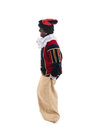 Dutch black pete jumping in jute bag Royalty Free Stock Images