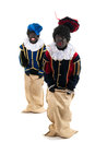 Dutch black petes having fun Royalty Free Stock Images