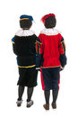 Dutch black Piet backs Stock Images