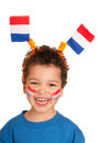 Dutch child as soccer fan Stock Photography