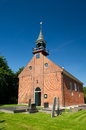 Dutch church in province Groningen Royalty Free Stock Images