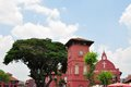 Dutch Clock Tower and Christ Church in Malacca Royalty Free Stock Photo