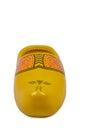 Dutch clog single yellow souvenir Stock Photo