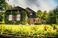Dutch county side typical of houses and gardens Royalty Free Stock Photos
