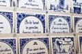 Dutch Delft blue tiles Royalty Free Stock Photo