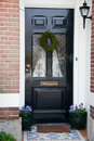 Dutch front door Stock Image