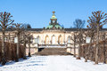 The dutch garden of the sanssouci palace in winter hollã ndischer garten potsdam germany Stock Images