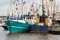 Dutch Harbor Of Urk With Fishi...