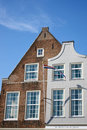 Dutch historic facades Royalty Free Stock Photo