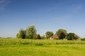 Dutch landscape in Groningen Stock Image