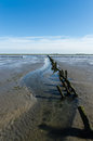 Dutch mud flats coastal feature of the Stock Photos