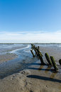Dutch mud flats coastal feature of the Royalty Free Stock Photo