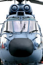 Dutch navy helicopter (frontal) Royalty Free Stock Photos