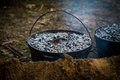 Dutch Oven Cooking Royalty Free Stock Photo