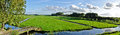 Dutch panorama landscape Stock Photo