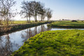 Dutch polder landscape in autumn Royalty Free Stock Photo
