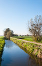 Dutch polder landscape in autumn Royalty Free Stock Photos