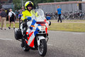 Dutch police motorbike Royalty Free Stock Photography