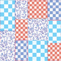 Dutch seamless plaid pattern delfts blue design Royalty Free Stock Photos