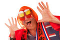 Dutch soccer fan Royalty Free Stock Images