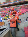 Dutch soccer fan Royalty Free Stock Photo