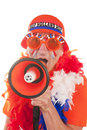 Dutch soccer supporter Royalty Free Stock Images