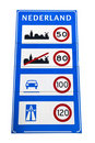 Dutch speedlimit sign Royalty Free Stock Image
