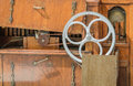 Dutch street organ wheel and belt Royalty Free Stock Photo