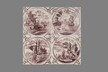 Dutch tile from the 16th to the 18th century Royalty Free Stock Photo