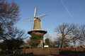 Dutch tower mill Leiden Stock Images