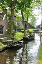 Dutch Venice (Giethoorn) Stock Photos