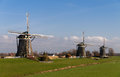 Dutch wind mills Stock Image